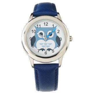 Cute Blue Owl Illustration Watch