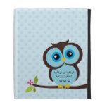 Cute Blue Owl iPad Folio Cover