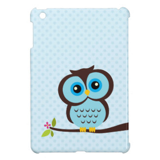 Cute Blue Owl iPad Mini Case