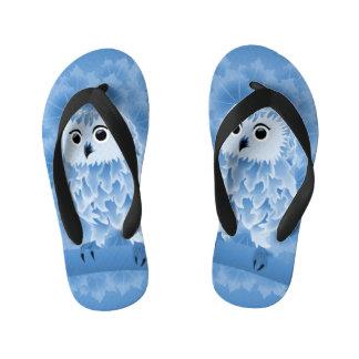 Cute Blue Owl Kid's Flip Flops