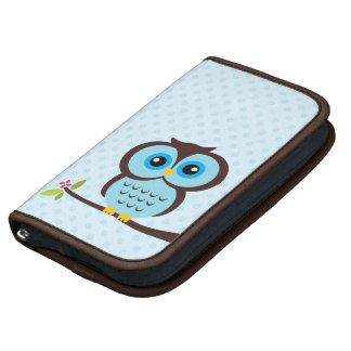 Cute Blue Owl Folio Planners