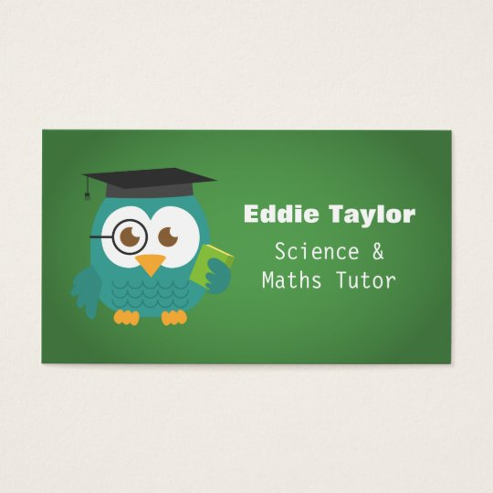 Cute Blue Owl with Graduation Hat, Personal Tutor