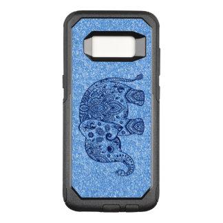 Cute Blue Paisley Elephant Blue Glitter. OtterBox Commuter Samsung Galaxy S8 Case