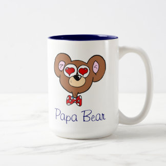 Cute Blue Papa Bear Coffee Mug