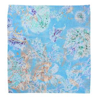 Cute blue pastel floral bandannas
