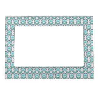 Cute Blue pattern Magnetic Frame