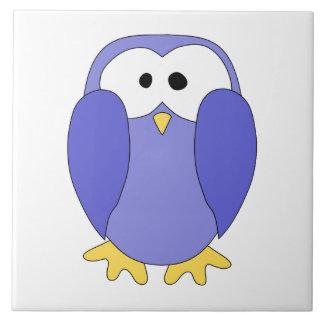 Cute Blue Penguin. Penguin Cartoon. Tile