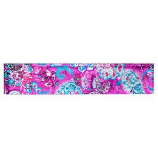 Cute blue pink flowers patterns desk nameplates