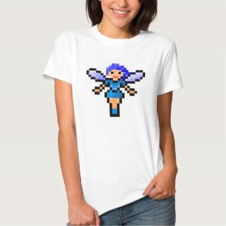 Cute blue pixel art fairy tee shirt