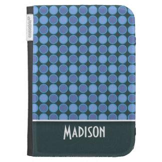 Cute Blue Polka Dot Kindle Cover