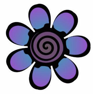 Cute Blue Purple Flower Magnet Acrylic Cut Out