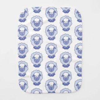 Cute Blue Sheep Burp Cloth