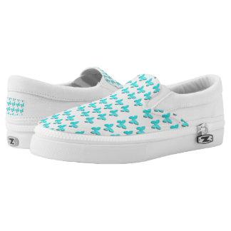 Cute Blue Small  butterflies shoes