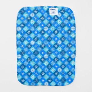 Cute blue snowflake patterns design burp cloth