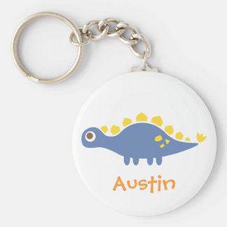 Cute blue Stegosaurus, Dinosaur for Kids Keychain