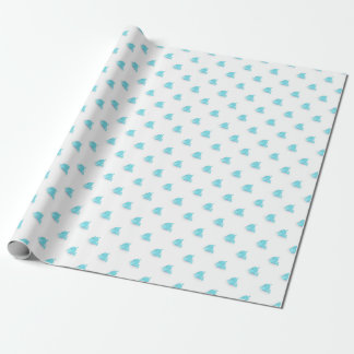 Cute Blue Whale Baby Shower Wrapping Paper