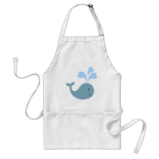 Cute Blue Whale Graphic Standard Apron