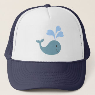 Cute Blue Whale Graphic Trucker Hat