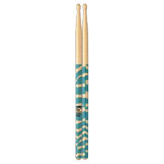 Cute Blue Zebra Drum Sticks