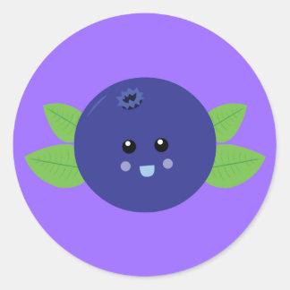 Cute Blueberry Round Sticker