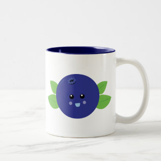 Cute Blueberry Two-Tone Coffee Mug