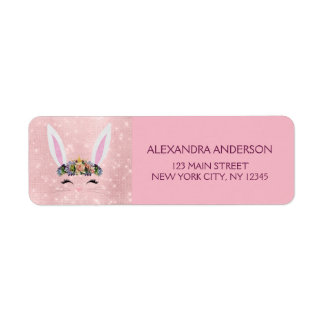 Cute Blush Pink Sparkle - Easter Bunny