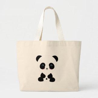 Cute Blushing Panda Bear Bag