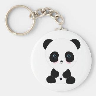 Cute Blushing Panda Bear Keychain
