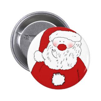 Cute Blushing Santa 6 Cm Round Badge