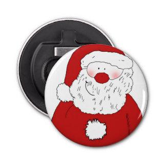 Cute Blushing Santa Bottle Opener
