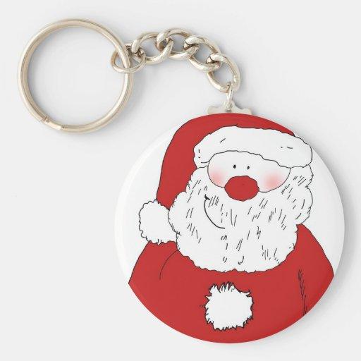 Cute Blushing Santa Key Chains
