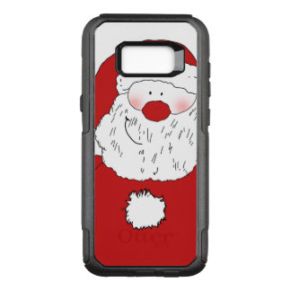 Cute Blushing Santa OtterBox Commuter Samsung Galaxy S8+ Case