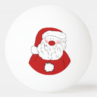 Cute Blushing Santa Ping Pong Ball
