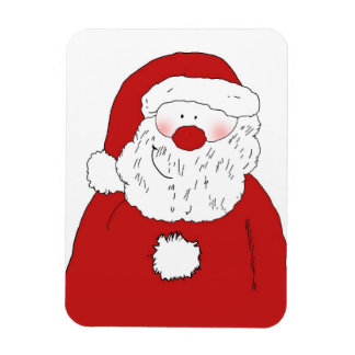 Cute Blushing Santa Rectangular Photo Magnet