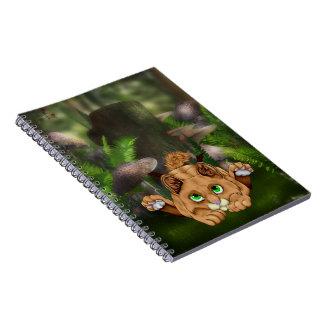 Cute Bobcat Kitten Spiral Notebook