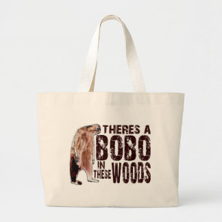 Cute BOBO SQUATCH IN THESE WOODS - Finding Bigfoot Jumbo Tote Bag
