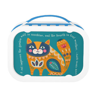 Cute Boho Cat with quote Lunch Box
