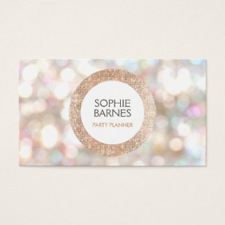 Cute Bokeh and Rose Gold Sequin Event Planner 2