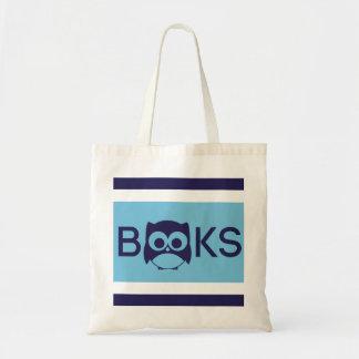 Cute Book Owl Bag Aqua Blue