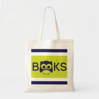 Cute Book Owl Bag Green Yellow