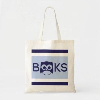 Cute Book Owl Bag Light Blue