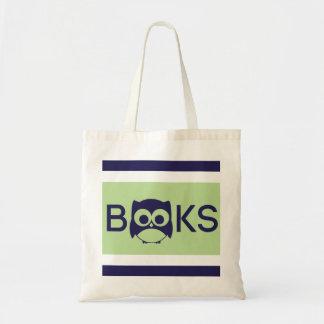 Cute Book Owl Bag Light Green