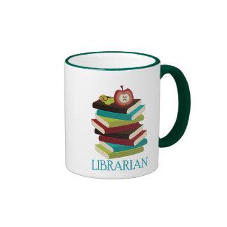 Cute Book Stack Librarian Gift Mugs