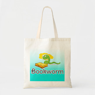 Cute Bookworm w/Glasses Tote Bag
