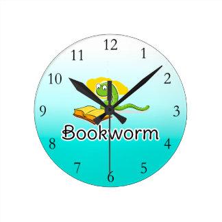 Cute Bookworm w/Glasses Wallclock