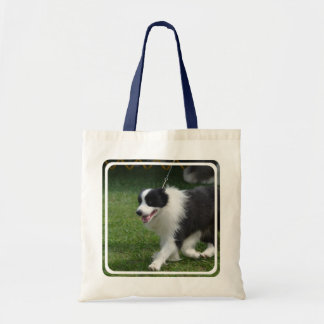 Cute Border Collie Puppy Tote Bag