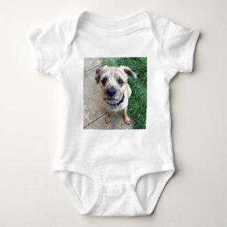 Cute border terrier baby bodysuit