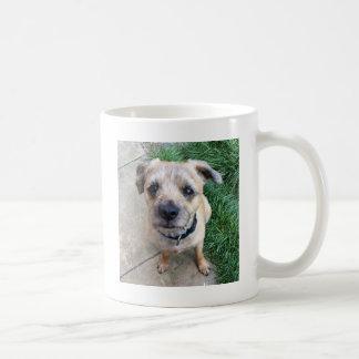 Cute border terrier basic white mug
