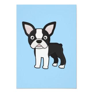 Cute Boston Terrier 13 Cm X 18 Cm Invitation Card
