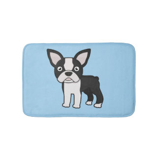 Cute Boston Terrier Bath Mat